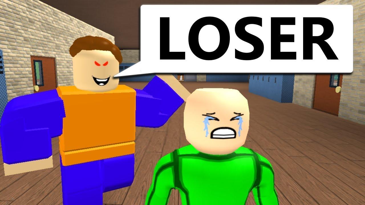 Baldi S First Day Of School Sad Roblox Animation Youtube