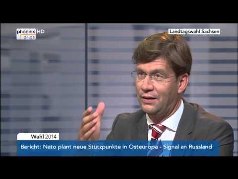 Sachsen hat gewählt - Die Bilanz: Journalistenrunde aus Berlin vom 31.08.2014