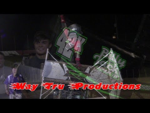 Trail-Way Speedway 358 Sprint Car and 600 Micro Sprint Victory Lane 8-11-17
