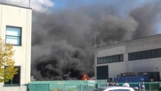 Incendio alla Baraccola di Ancona