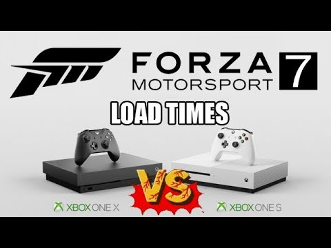 Forza Motorsport 7 Load Time Xbox One S vs Xbox One X