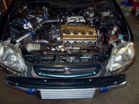 Turbo Civic D16y8 Entire Build Photo Slide