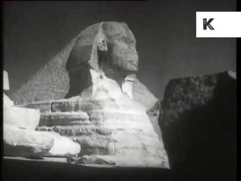1930s Egypt, Sphinx, Pyramids, Archive Footage
