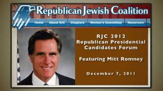 Will Romney Run From His '07 Rjc Speech?
