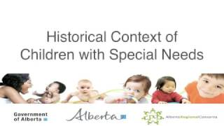 Historical Context of Children with Special Needs