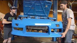 Will My Nissan 2JZ 240sx Win the Project Car Shootout!? - Tucked Radiator Install! thumbnail