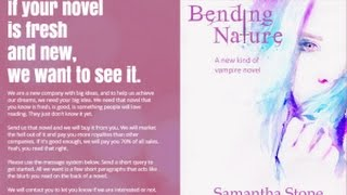How I wrote and sold my novel Bending Nature