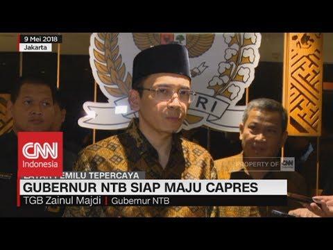 Gubernur NTB Tuan Guru Bajang Siap Maju Capres 2019