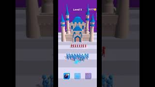 Gun clash 3D : Level 5 best Gameplay    Join clash 3D    Run Game in Android phone 📱 ios #Shorts