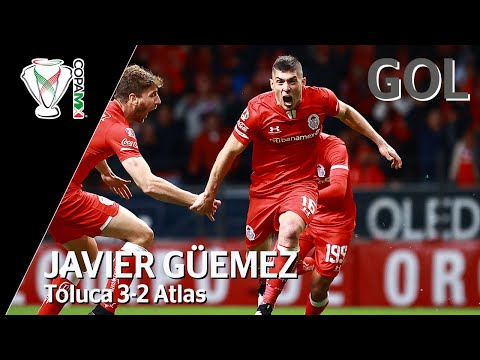 Gol de J. Güemez | Toluca 3 - 2 Atlas | Copa MX - Octavos de Final