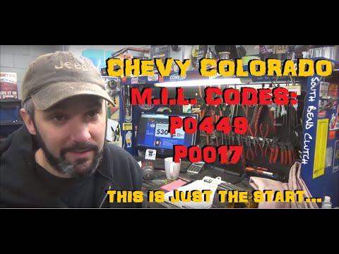 Chevy Colorado - EVAP Trouble P0449 & P0017