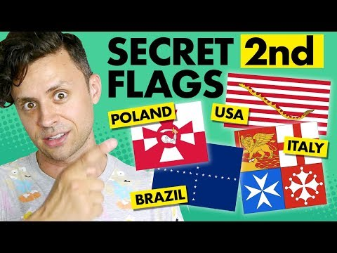 Secret SECOND FLAGS of countries!