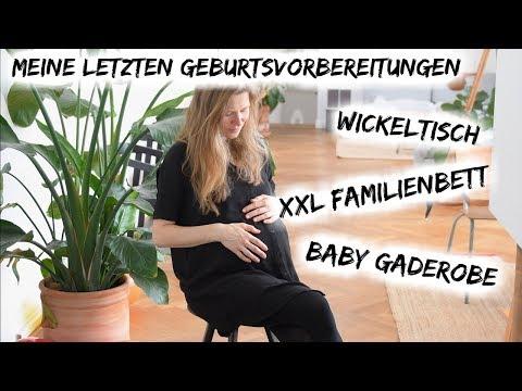 LETZTE GEBURTSVORBEREITUNGEN | WICKELTISCH | XXL FAMILIENBETT | GADEROBE