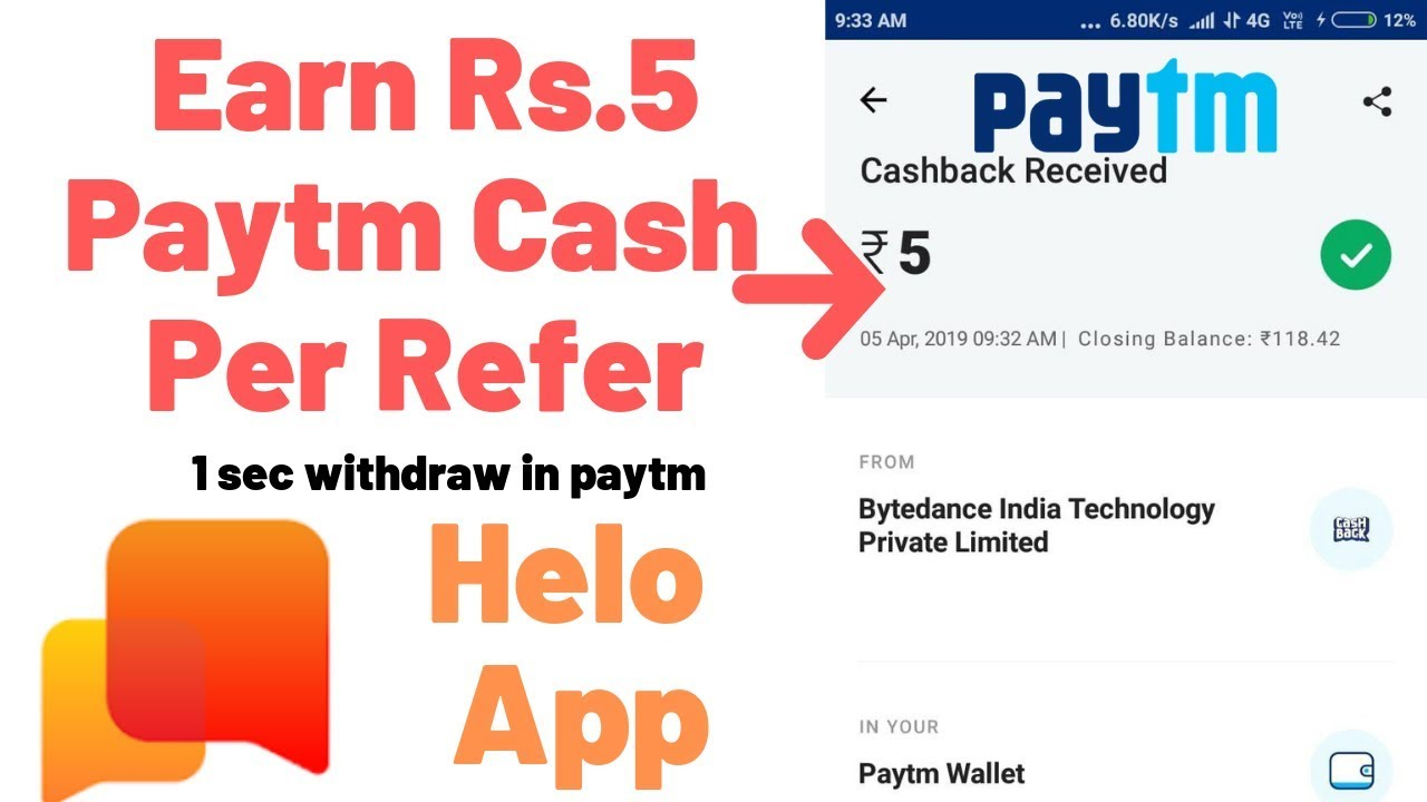 Helo App - Rs 5 Paytm Instantly Per Refer || Make Google Drive Refer Link  Easily