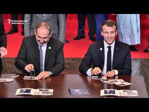 Macron Arrives In Armenia For Francophone Summit