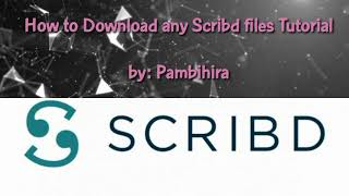 Gambar cover How To Download Files in Scribd for Free🙂