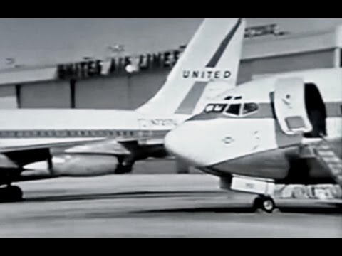 United Air Lines Pilot Training Promo Film - 1969
