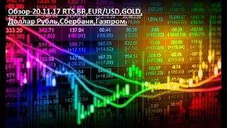 Обзор-20.11.17 RTS,BR,EUR/USD,GOLD,Доллар Рубль,Сбербанк,Газпром.