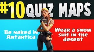 TOP 10 BEST QUIZ & WOULD YOU RATHER Creative Maps In Fortnite | Fortnite Quiz Map CODES