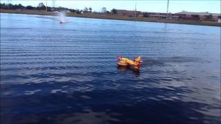 Hobbyking Guanli RC Canadair CL-415 on the pond