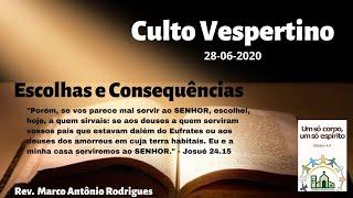 ESCOLHAS E CONSEQUÊNCIAS - Josué 24.15-25
