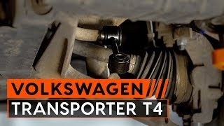 Montering Stabilisatorstag bak venstre VW TRANSPORTER IV Bus (70XB, 70XC, 7DB, 7DW): gratis video