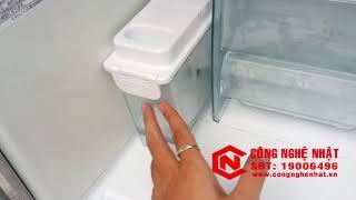 Tủ lạnh cao cấp 6 cánh Toshiba GR-W45FT 445L màu bạc nội địa Nhật 2nd 96%