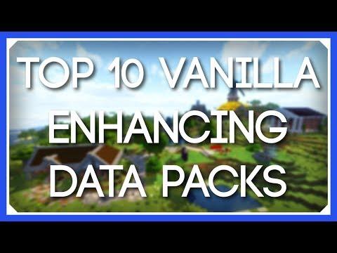 Top 10 Vanilla Enhancing Data Packs | Best Vanilla Survival Data Packs | Minecraft 1.14