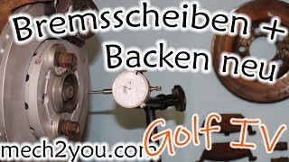 🛠️ Bremsbeläge und Bremsscheiben beim VW Golf 4 mit FS III Bremssattel wechseln DIY Auto