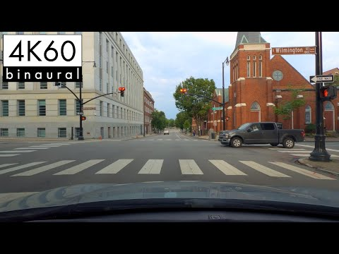 4K Drive - Downtown Raleigh from Crabtree