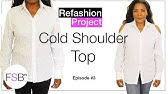 62c2ee4a2f3c8e How to Make a Sexy Cold Shoulder Top from a Baggy Shirt- Upcycled ...