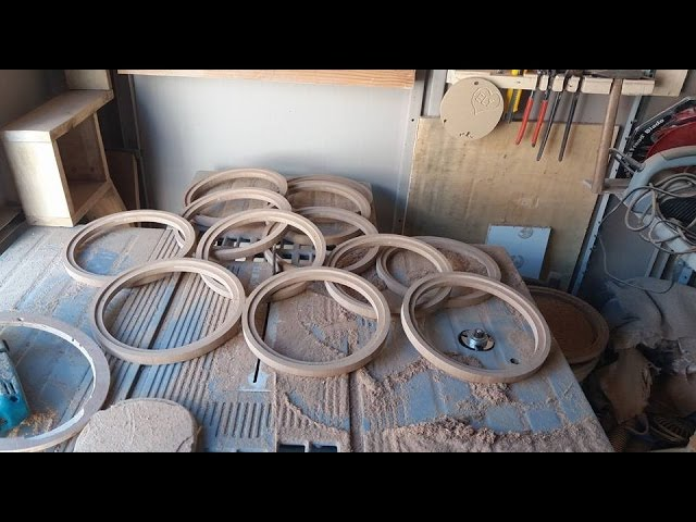 come fare fori circolari/ anelli in mdf per montaggio speaker -metodo innovativo!