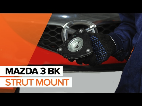 How to replace a front strut mount on MAZDA 3 BKTUTORIAL   AUTODOC
