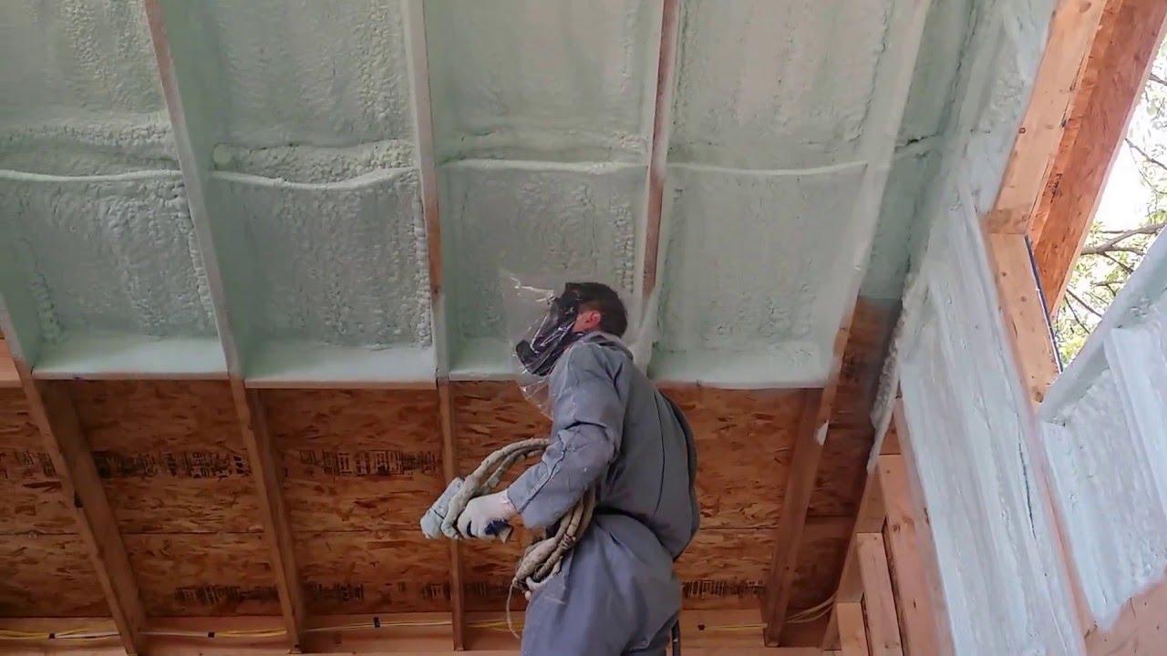 Demilec Heatlok Soy Spray Foam In A Tiny House Youtube