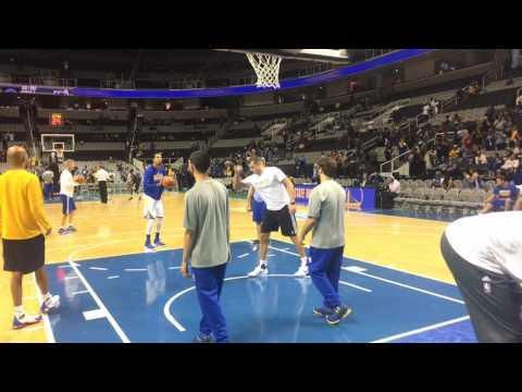 Stephen Curry pregame shootaround, Golden State Warriors vs Sacramento Kings preseason at San Jose