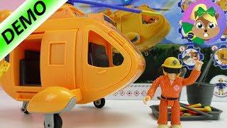 Bombeiro Sam com helicóptero | testando brinquedos