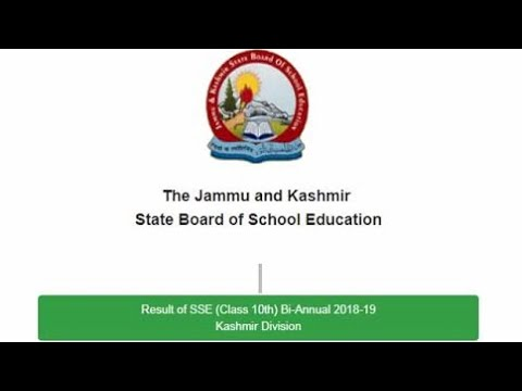 Jkbose 10class & 12class Date Sheet Syllabus Results 2018 By Annual Old And New Students!!