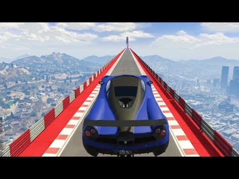 HIJ HEEFT DE SPRONG NIET GEHAALD! (GTA V Online Funny Races)