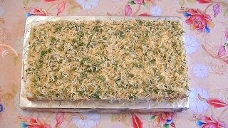 Закусочный торт из крекеров. Без выпечки