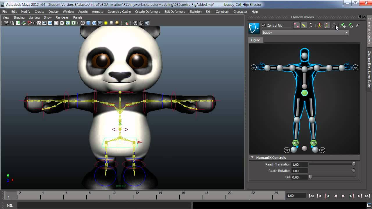 Setting up Human IK in Maya 2012 pt12 Control Rig Overview