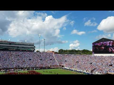 Navy F18 flyover before Ole Miss/Alabama game