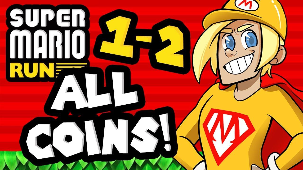 Super Mario Run: World 1-2 ALL COINS!