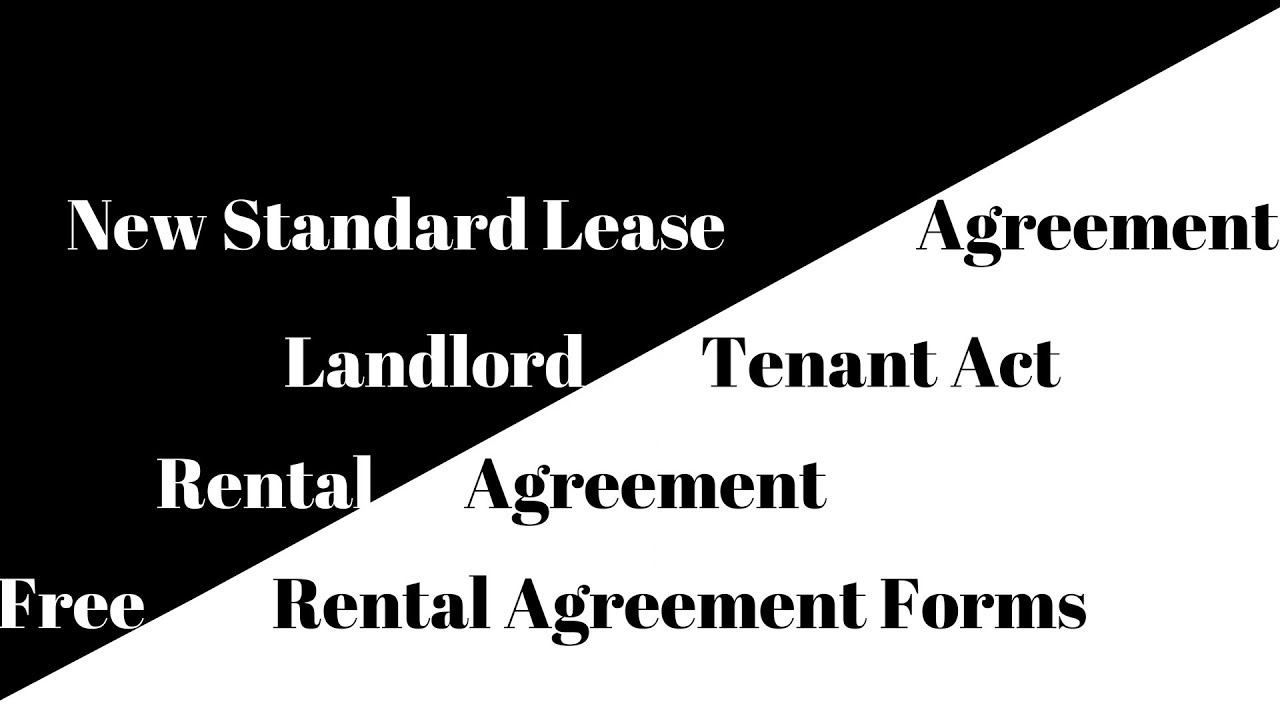 Free Rental Agreement Forms New Standard Lease Agreement