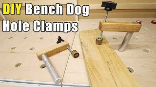 DIY Bench Dog Clamps - cheap and easy to make