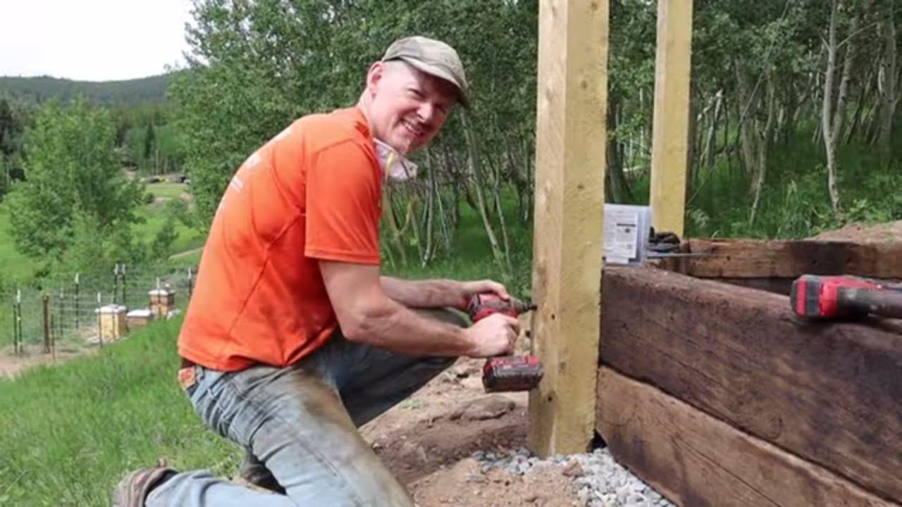 Retaining Wall Build Underway!