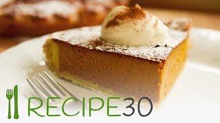PUMPKIN PIE recipe made from scratch - By www.recipe30.com
