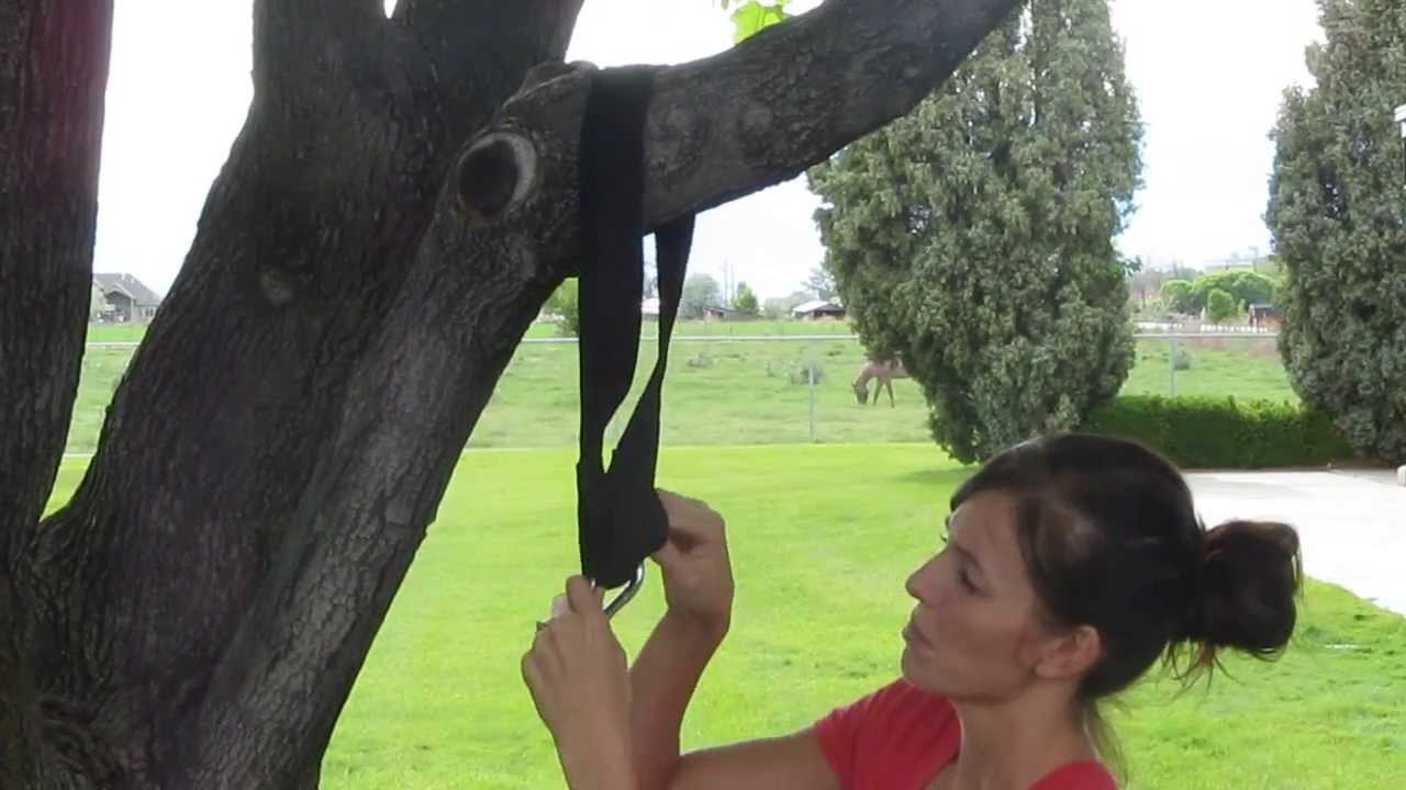 Using A Tree Swing Hanging Strap Option 1 Youtube
