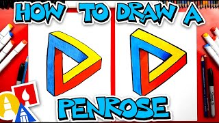How To Draw A Penrose Triangle - Optical Illusion