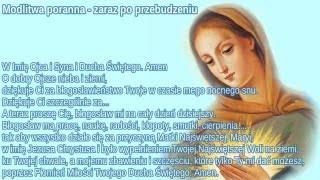 Modlitwy poranne - po przebudzeniu i w należytym skupieniu