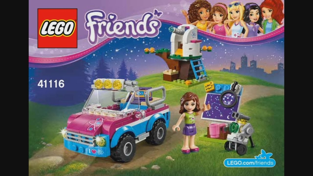 Lego Friends 41116 Olivias Exploration Car Instruction Timelapse